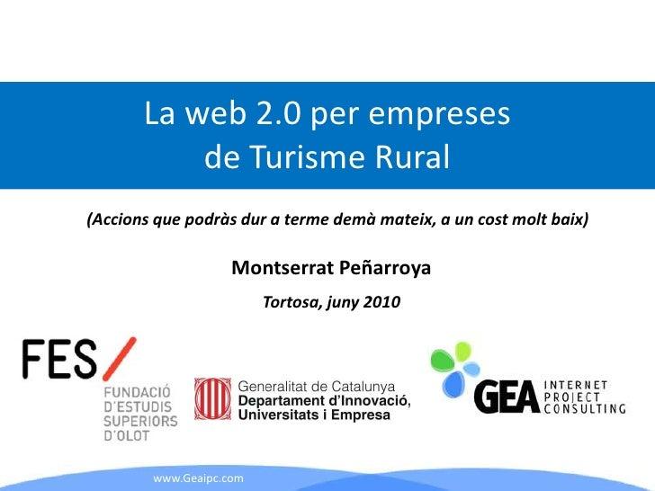 La Web 2.0 per al Turisme Rural