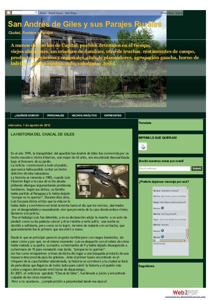 Share Report Abuse Next Blog»                                                             Create Blog Sign InSan Andrés de...