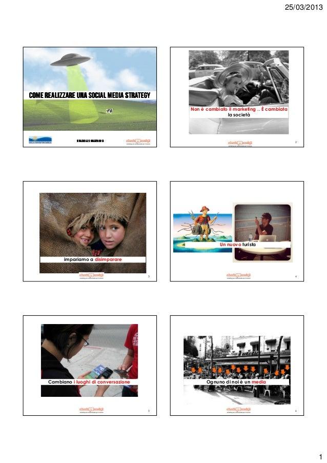 25/03/2013Come realizzare una social media strategy                                               Non è cambiato il market...