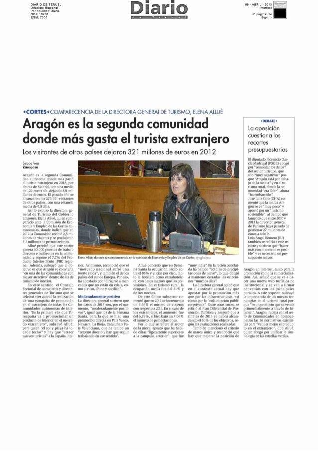 Los datos del turismo de Aragón, (Elena Allué, Dirección General de Turismo ARAGOB)