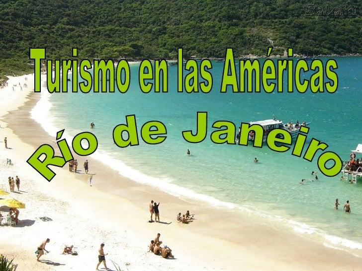 Turismo en las Américas Río de Janeiro