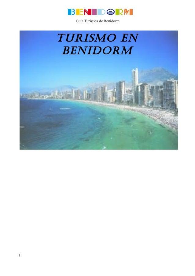 Guía Turística de Benidorm  Turismo en Benidorm  1