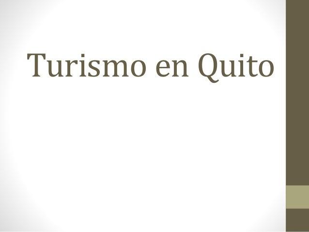 Turismo en Quito