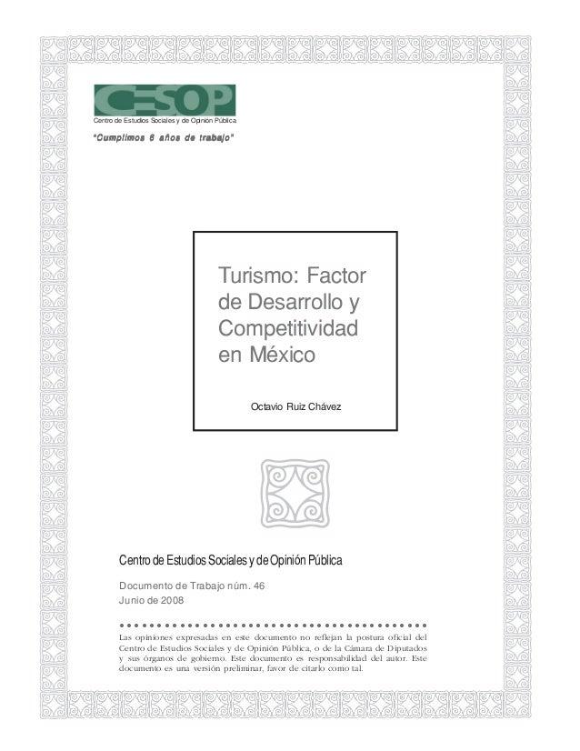 """Centro de Estudios Sociales y de Opinión Pública""""Cumplimos 6 años de trabajo""""                                         Turi..."""