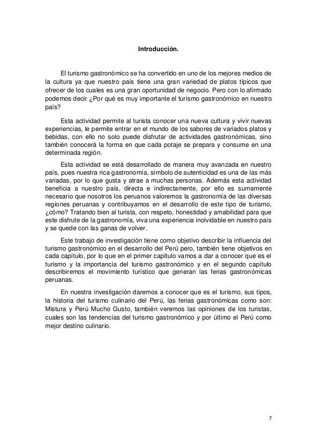 Turismo gastron mico en el per for Introduccion a la gastronomia pdf