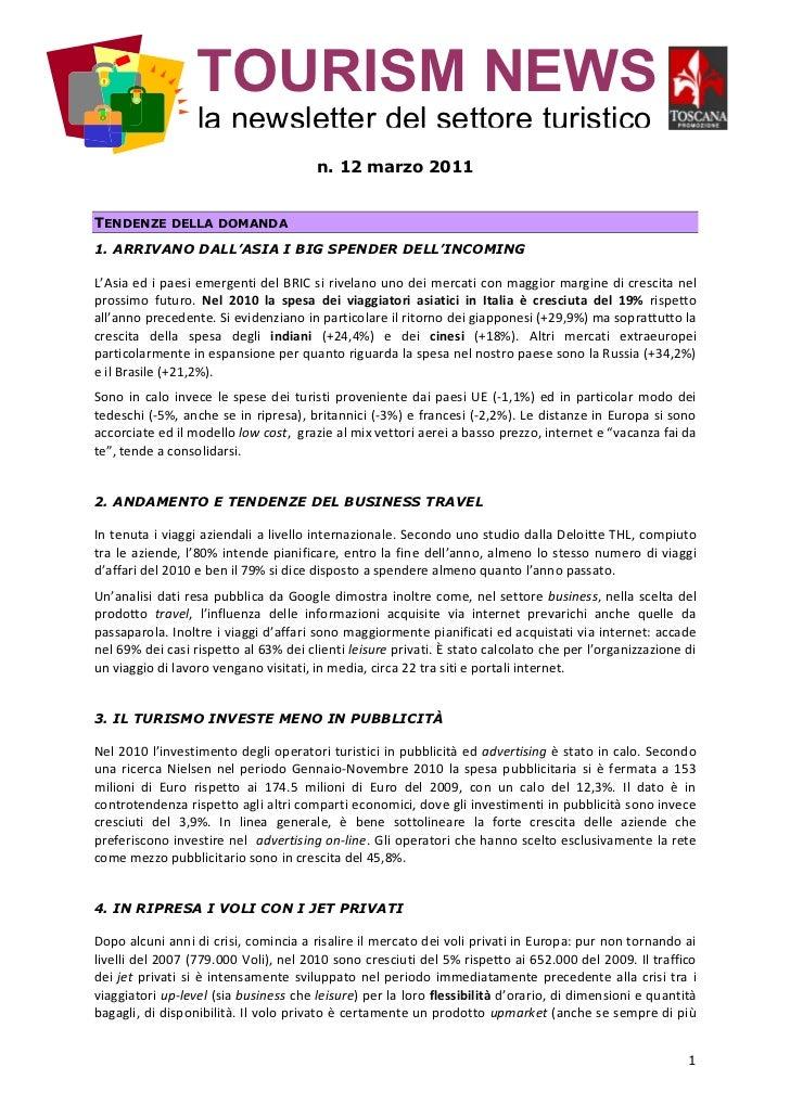 TURISMO NEWS - Toscana Promozione 3-2011