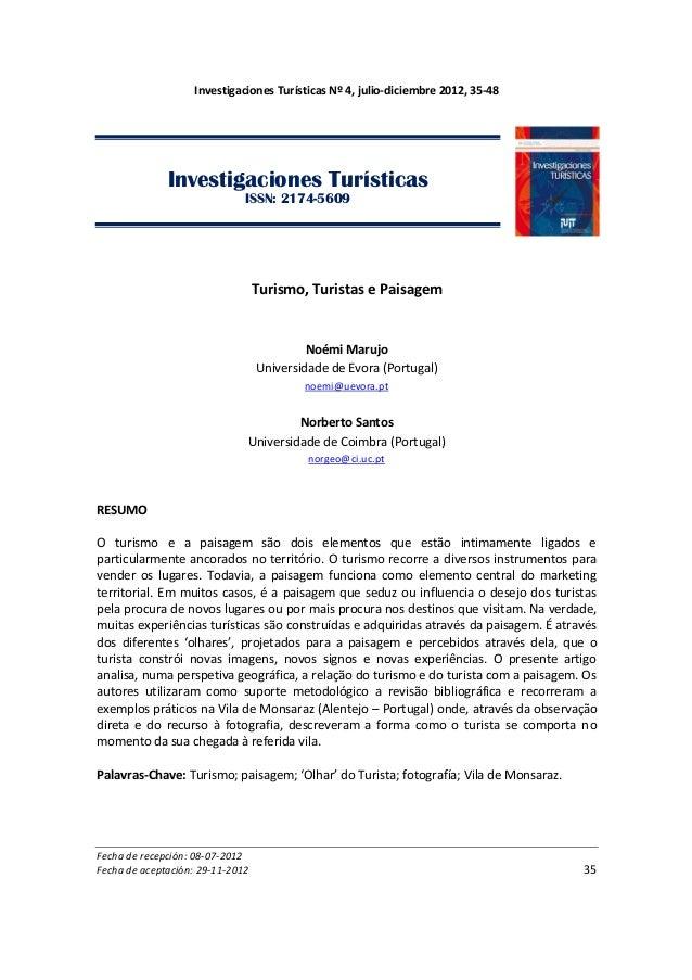 Turismo, turistas e paisagem (httpwww.investigacionesturisticas.esiuitarticleview54)