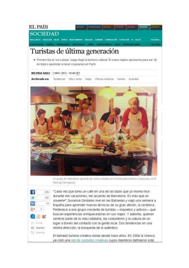 Turista de última generación - El País - Belinda Saile - 04.05.2013