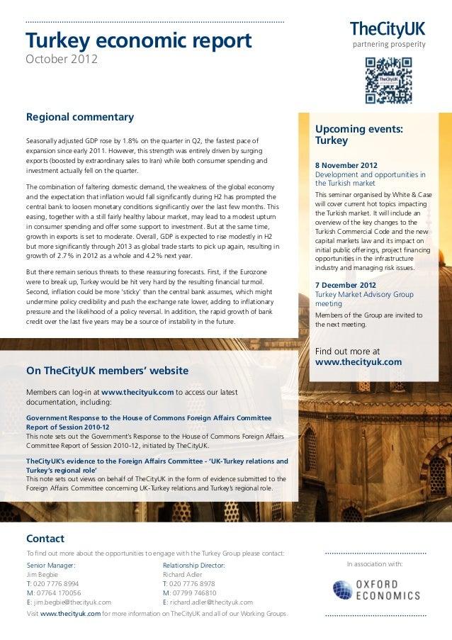 Turkey economic reportOctober 2012Regional commentary                                                                     ...