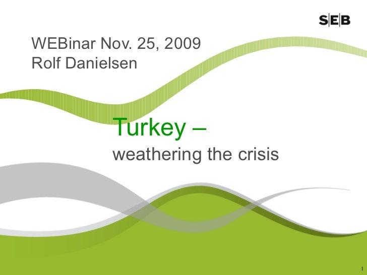Turkey 2009 Webinar