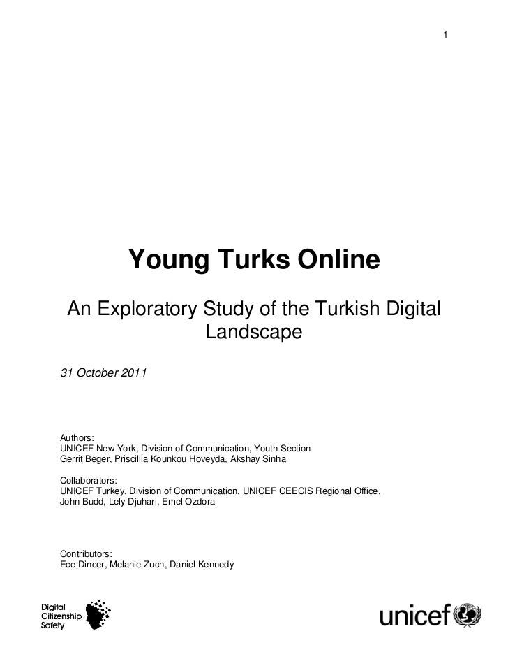 UNICEF Turkey digital landscape exploratory paper