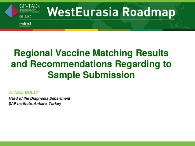 Regional Vaccine Matching Results and Recommendations Regarding to Sample Submission