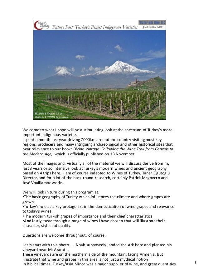 Turkey's indigenous wine varieties n otes 11812