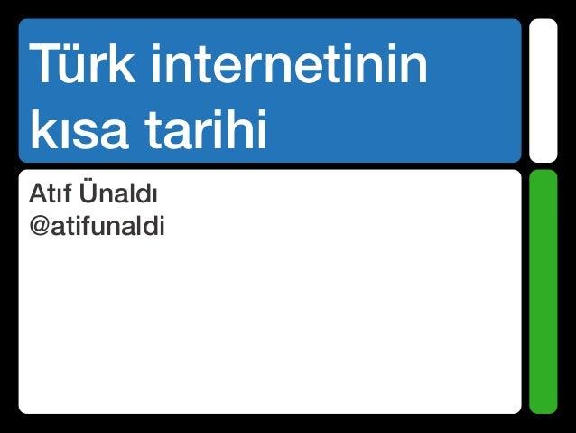 Turk internetinin kısa tarihi