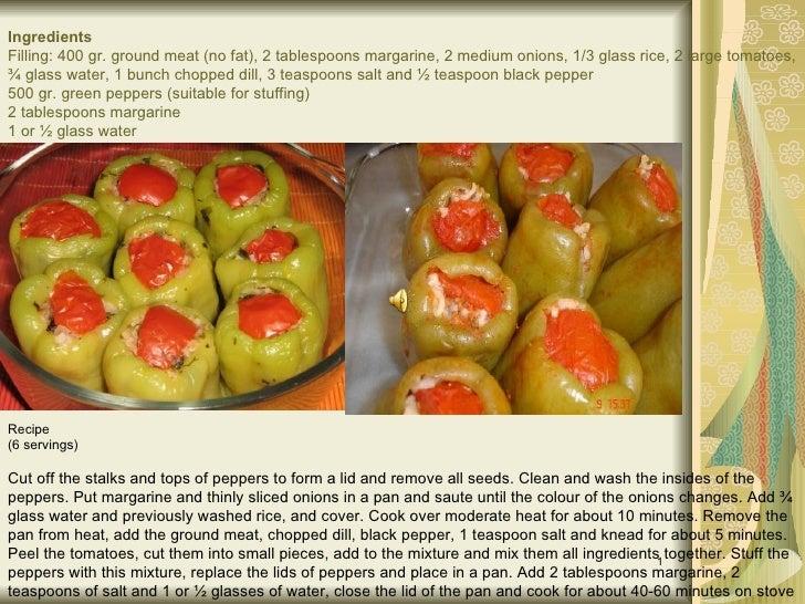 Turkish meals/recipes