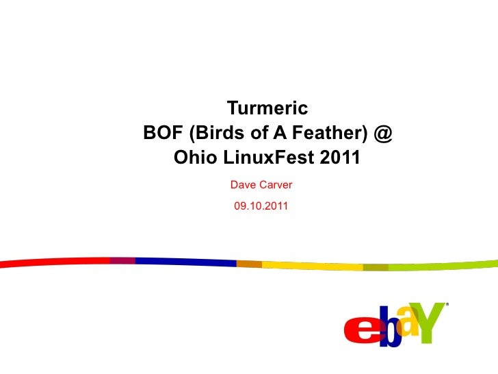 <ul>Turmeric BOF (Birds of A Feather) @ Ohio LinuxFest 2011 </ul><ul>Dave Carver <li>09.10.2011 </li></ul>