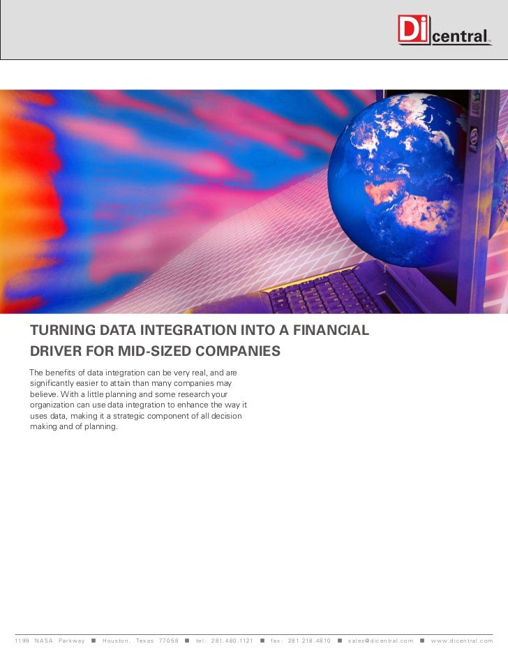Turning data integration into a financial      driver for mid-sized companies     The benefits of data integration can be ...