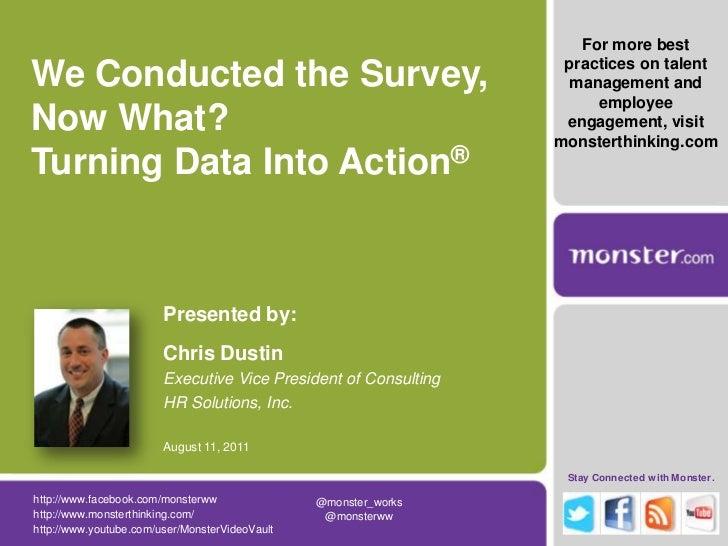 Turning Employee Survey Data Into Action