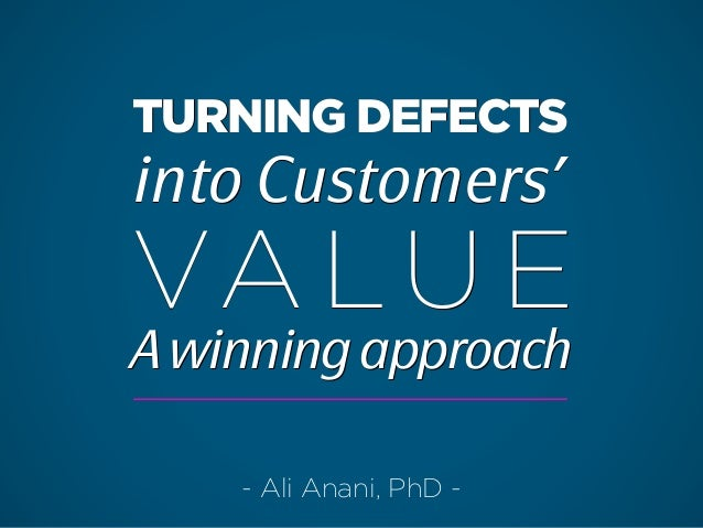 Turning defects into value