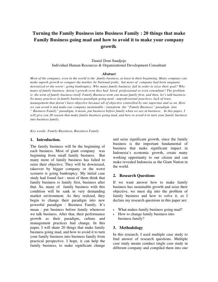 Turning the Family Business into Business Family : 20 things that make  Family Business going mad and how to avoid it to m...