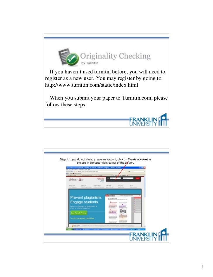 Instructions for Using Turnitin