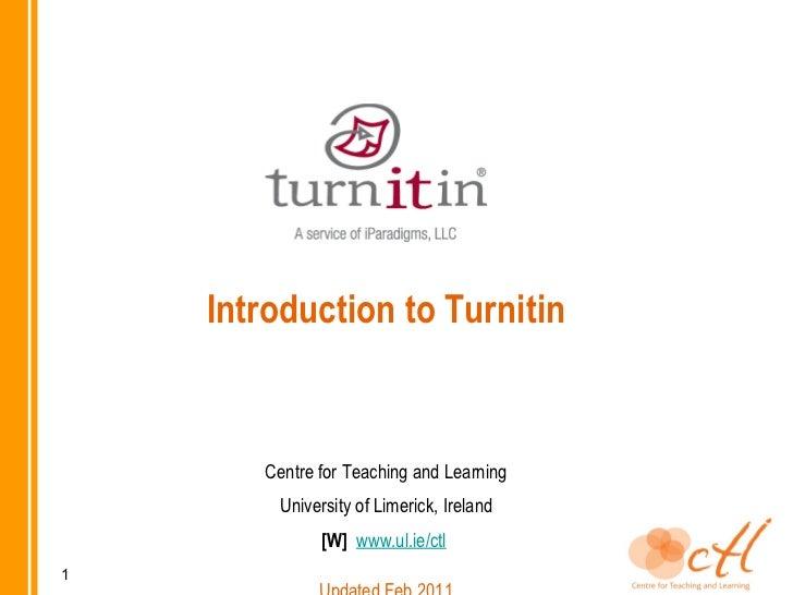 Turnitin presentation