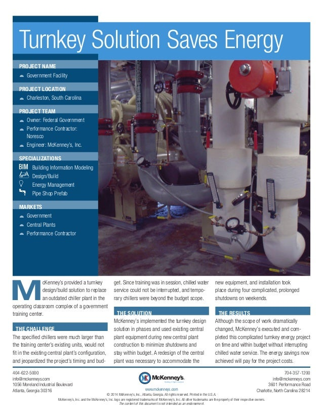 M cKenney's provided a turnkey design/build solution to replace an outdated chiller plant in the operating classroom compl...