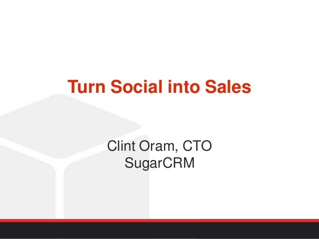 Turn social into sales