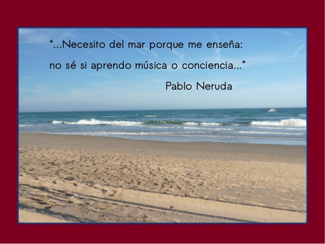 Pablo Neruda el mar