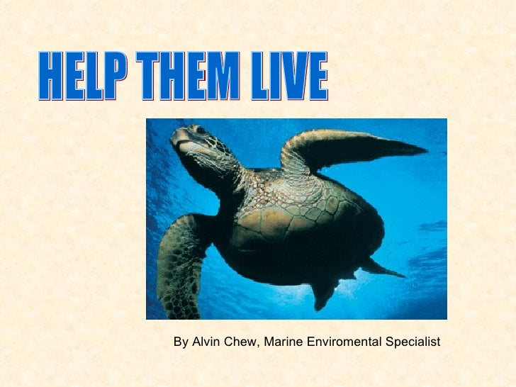 HELP THEM LIVE By Alvin Chew, Marine Enviromental Specialist