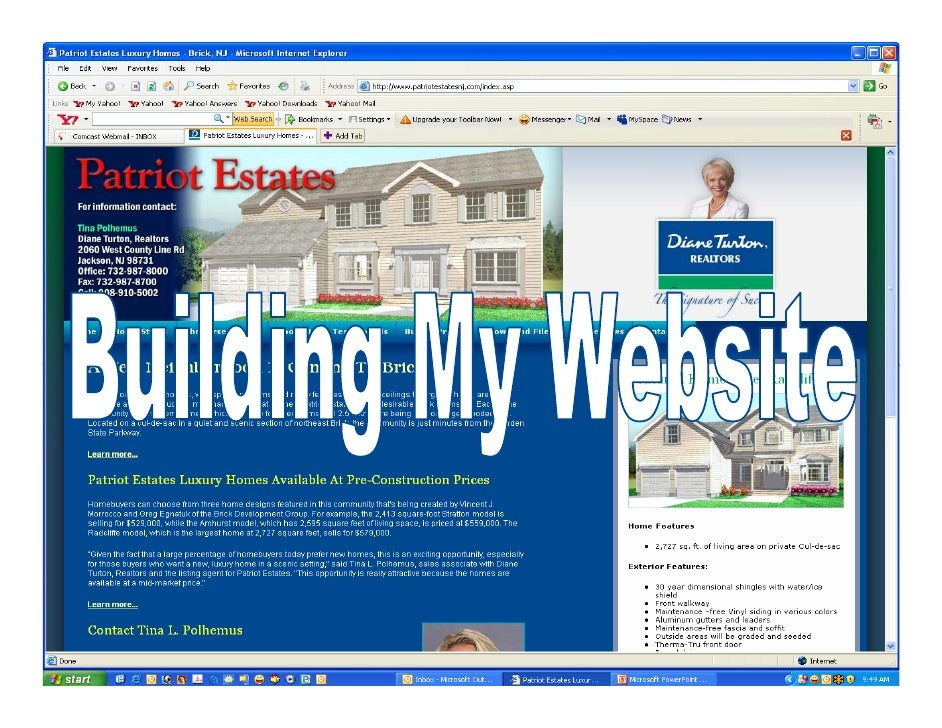 Your Home Page  Your homepage is your welcome page to website visitors. It includes:  •   Your masthead •   Your contact i...