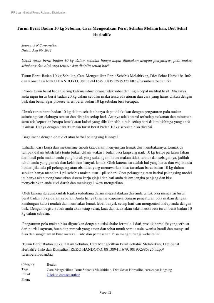 PR Log - Global Press Release Distribution    Turun Berat Badan 10 kg Sebulan, Cara Mengecilkan Perut Sehabis Melahirkan, ...