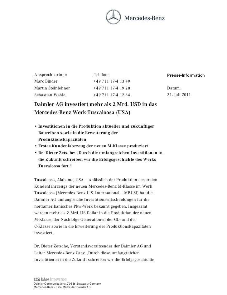 Ansprechpartner:                          Telefon:                 Presse-InformationMarc Binder                          ...
