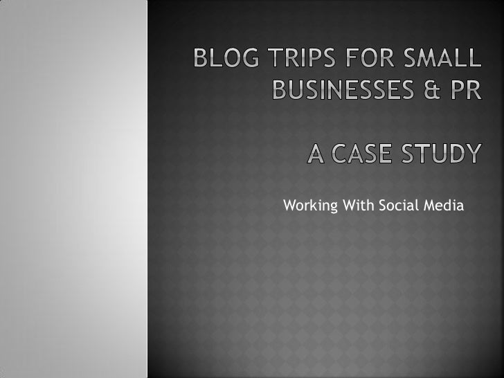 Working With Social Media