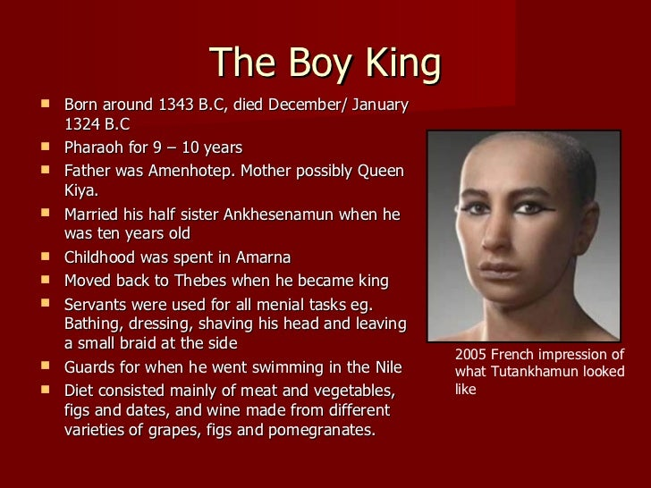 a biography of tutankhamen a king of egypt Speech king tut - download as word  celebrity biography & memoir pop culture  the discovery of the tomb made tutankhamun one of egypt's most well-known rulers.