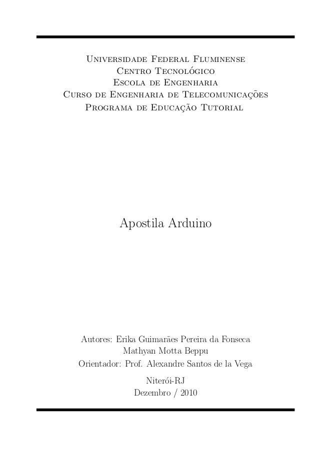 Universidade Federal Fluminense                         ´           Centro Tecnologico          Escola de Engenharia      ...