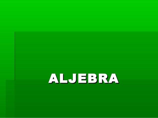 ALJEBRAALJEBRA