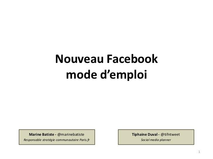 Nouveau Facebook, mode d'emploi
