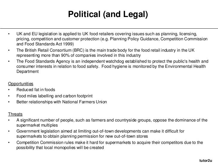 morrisons pestle analysis View pestle analysis of uk for morrisons company_131017docx from operations 12345 at rizal technological university pestle analysis of morrisons company pestle stands for: p- political e.