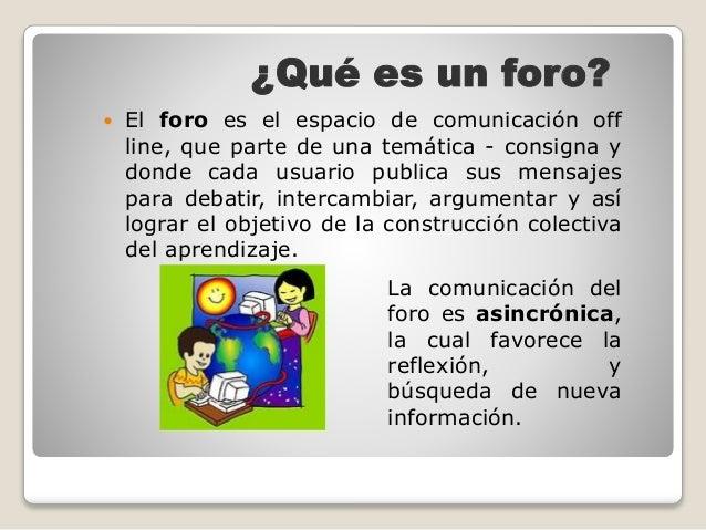 LOS FOROS EN LINEA Tutora-y-foros-2-638