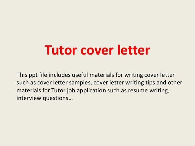 French tutor cover letter sample
