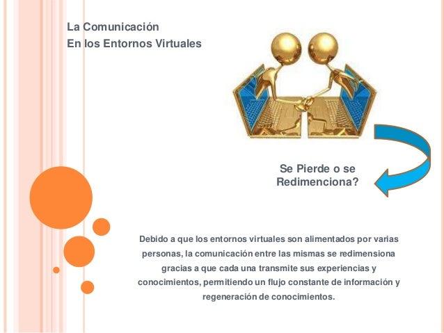 La Comunicación En los Entornos Virtuales Se Pierde o se Redimenciona? Debido a que los entornos virtuales son alimentados...
