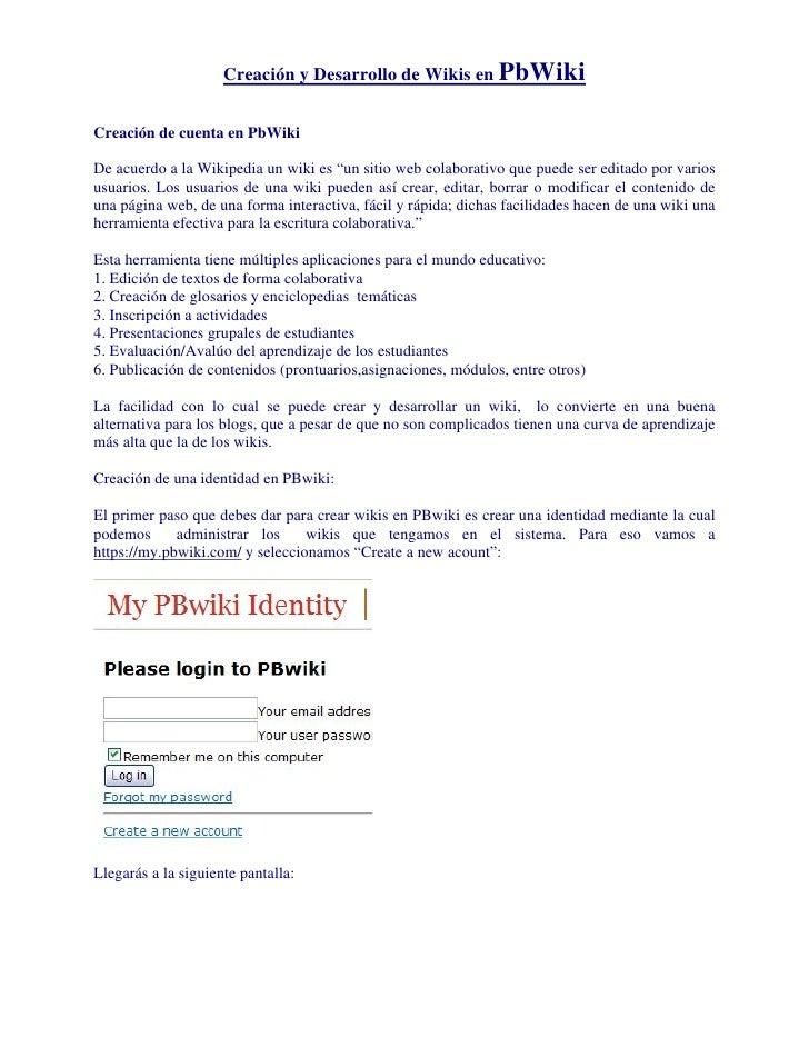 Tutor De Pbwiki