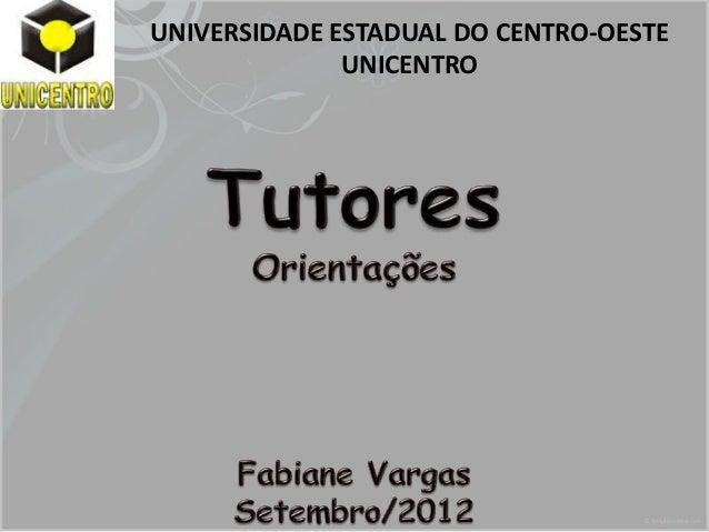 UNIVERSIDADE ESTADUAL DO CENTRO-OESTE              UNICENTRO