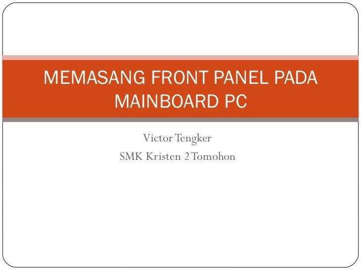 Tutor front panel 271011