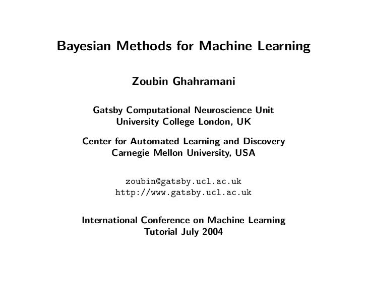 icml2004 tutorial on bayesian methods for machine learning
