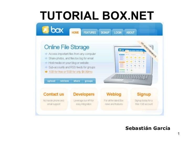 TUTORIAL BOX.NET Sebastián García