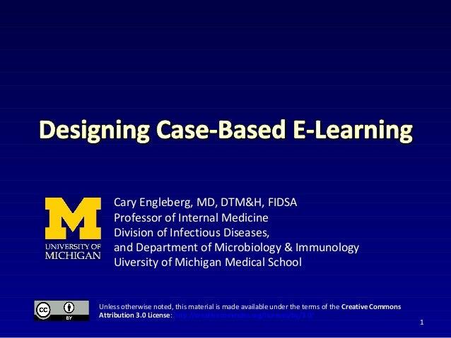 Tutorial: Case-based learning: Dr. Cary Engleberg