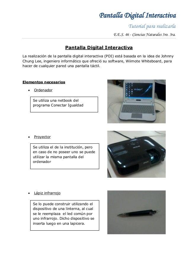 Pantalla Digital Interactiva                                                             Tutorial para realizarla         ...