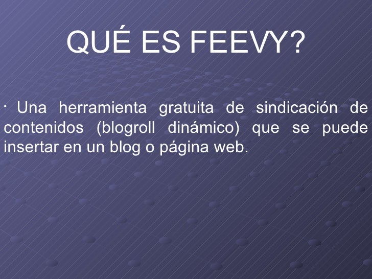 Tutorial feevy